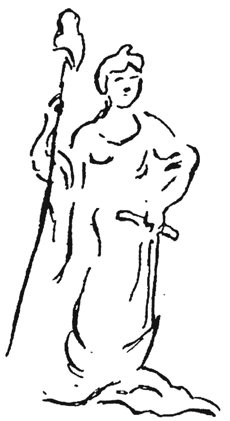 Symbols of the harlot part iv william struse on the left side of the shield the goddess liberty is represented holding a spear or staff with a pileus phrygian cap liberty or libertas as she was biocorpaavc Images